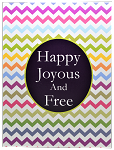 Happy Joyous And Free Greeting Card Blank Inside
